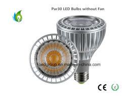 25W PAR30 LED Bulbs E27 Base with AC85-265V Aluminum Radiator Without Fan