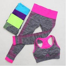 Women's Seamless Sports Fitness Yoga Bra with High Impact Pocket