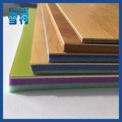 Comfort and Safety Wooden Pattern PVC Flooring for Sports Court Using