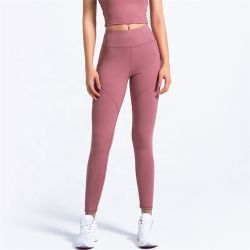 Wholesale Solid Breathable Soft Fitness Clothing Sport Wear Woman Legging Pocket Yoga Pants Athletic Apparel
