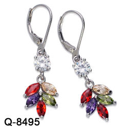 2a86fb393 Wholesale Handmade 925 Sterling Silver or Brass Fashion Jewelry Colorful  Zircon Stone Earrings for Women