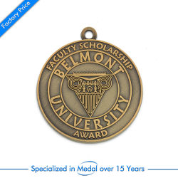 Tournament Antique Gold Medal Factory Presentation Box Promotions Round