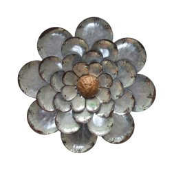 Galvanized Metal Flower Wall Hanging Decor