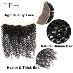 Cheep Wholesale Brazilian Lace Frontal Closure Curly, 13X4 Free Part Ear to Ear with Baby Hair 100% Human Remy Hair (TFH18)