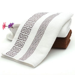 Shanghai DPF Supply Quality Cotton White Embroidery Bath Towel Set