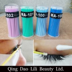 50PCS/Lot Disposable Swab Micro Brush Eyelashes Extension Individual Lash Glue Removing Makeup Tools Cotton