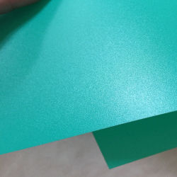 A4 Size 0.6mm Green Solid Color Rigid Frosted Plastic PP Sheet for Envelope Bag