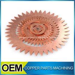 Red Copper Block Custom Production CNC Turning Machining