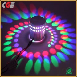 LED Wall Lamps RGB Spiral Hole LED Wall Lamp with Infrared Remote Control for Hotel Hall Bar KTV Lighting Wall Lamp LED Wall Light 3D Wall Panel