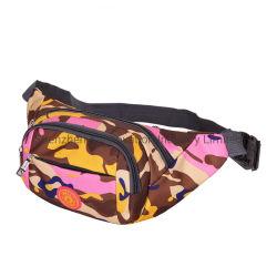 Promotional Printed Design Colorful Nylon Fanny Pack Sports Belt Waist Bag