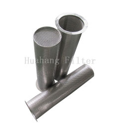 Flanged stainless steel mesh punching plate filter from basket strainer