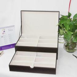Double Layer PU Leather Jewelry Storage Box Jewelry Packaging Box