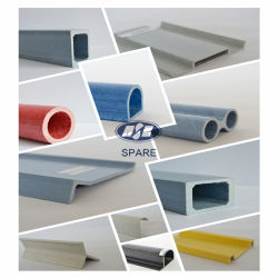 Spare Pultrusion FRP/Gfrp Square Tube for 38*38mm, 2mm Thickness