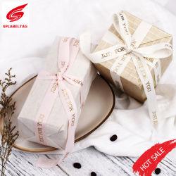Custom Black and White Woven Grosgrain Ribbon Tape for Sport Clothing Bag