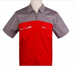 Custom 100% Cotton Workwear Plus Size Short Sleeve Work Shirt