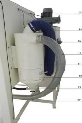 Suction Sandblasting Cabinet Machine