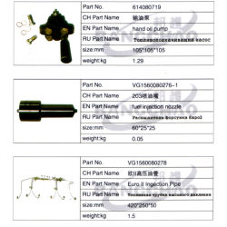 Sinotruck HOWO Shaman Spare Parts Auto Accessory Fuel Injector Assy
