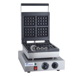 China Best Waffle Iron Custom Belgian Egg Waffle Makers Premium Stainless Steel Flip Bread Breakfast Baking Electric Cheap Waffle Make Machine