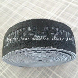 Oeko-Tex100 Custom Logo Polyester Spandex Jacquard Elastic for Underwear Waistband
