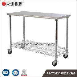 Hotel Restaurant Commercial Kitchen Equipment #201 Stainless Steel Work Table Wire Shelf Rack
