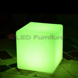 RGB and Waterproof Outdoor Bar Stools LED Cube Seat
