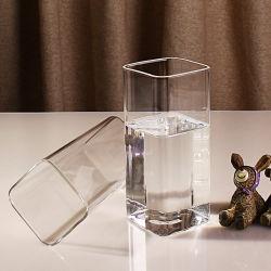 733a32de8b73 Wholesale 400ml Family Use Clear Square Glass Cup 2 PCS Set