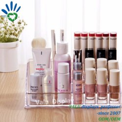 Transparent Clear Acrylic Cosmetic Makeup Nail Polish Lipstick Necklace Jewelry Display Case