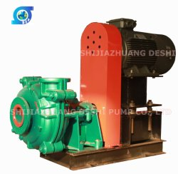 Wearing Resistant Rubber Elastomer Slurry Pump with Motor