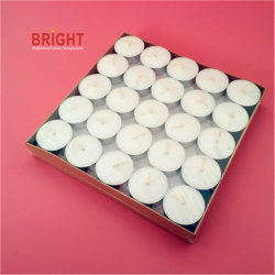 Decorating White Highquality Environmental Tealight Candle of Paraffin