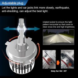 Auto Lighting System H4 All in One 40W 12V 360 Light LED Car Lamp H11 9005 H7 Canbus F2 LED Headlight with Decoder