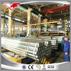 Ms Hot Dipped Galvanized Steel Pipe/ ERW Galvanised Steel Pipe/ Galvanized Round Pipe/Gi Pipe for Gas/Greenhouse/Fence Post/Construction/ Water Supply