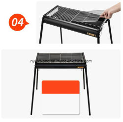 2017 New Style Wholesale Fashion Outdoor Light Aluminum Alloy BBQ Charcoal Grill for Family Party Big BBQ Grill