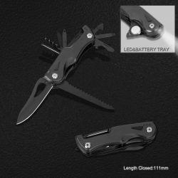 Multi Function Pocket Knife with LED Flashlight (#6204B)