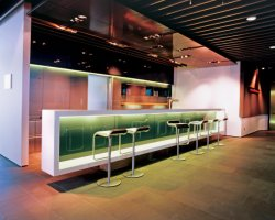 Artificial Stone Night Club Furniture LED Lighting Bar Counter Deisgn For  Sale Boat Bar Furniture