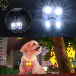 LED Light up Pet Pendant Pendant Small Bone Luminous Pendant