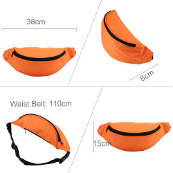 Unisex Polyester Sport Outdoor Chest Pack Belt Bag Waist Sport Bag