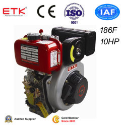 3000/3600rpm Air-Cooled Single Cylinder Diesel Engine 10HP 186f
