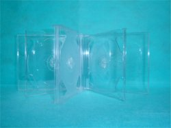 6 Discs CD Case CD Box CD Cover 24mm with Clear Tray