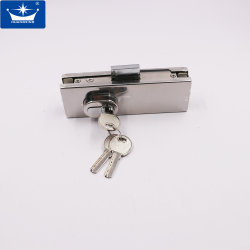 Stainless Steel Glass Door Floor Lock, Bottom Patch Fitting Lock