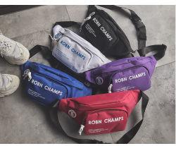 Waist Bag, Wholesale Customized Promotional Canvas Cotton Travel Fanny Pack Money Holder Wallet Pocket Phone Belt Purse Sports Running Biking Bag