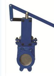 Manufacturer Cast Steel Flanged Manual Slurry Knife Gate Valve
