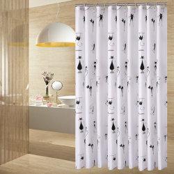 Popular Printed Waterproof Polyester Fabric Bathroom Shower Curtain  (01S0010)