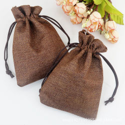Promotional Jute Drawsrting Gift Packing Burlap Pouches Wholesale OEM Gifts Bag (CJB1033)