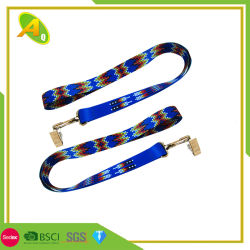 Custom Souvenir Medal Ribbon Card Holder Polyester Lanyard (052)