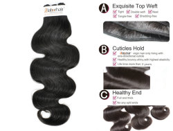 100% Natural Brazilian Virgin Human Hair Extensions Bundles at Factory Price with SGS Approval