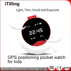 Distributor Bluetooth Sport Fitness Round Color Screen Kids/Children Sos Smart Pocket Watch Mobile Phone with SIM Card Slot