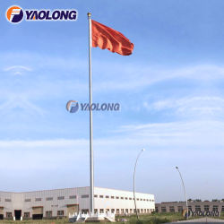 60m High Strength Stainless Steel Huge Flagpole for Factory Decoration