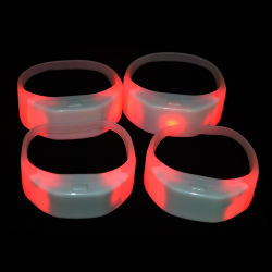 Linli Programmable Wireless Remote Controlled LED Wristband Radio Control LED Wristband