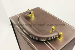 Wholesale Portable PU Leather Packaging Wine Box