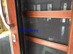 High Quality Aluminum Sliding Door with Bulit-in Blind and Flyscreen